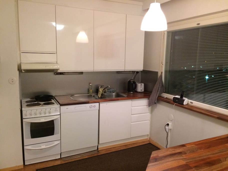 Spacious kitchen with all you need to cook