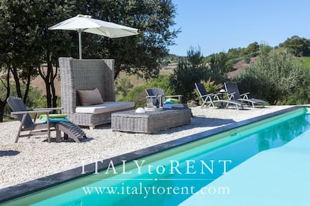 CASALE LAVANDA with Jet stream pool. South of Todi - Avigliano umbro - Villa