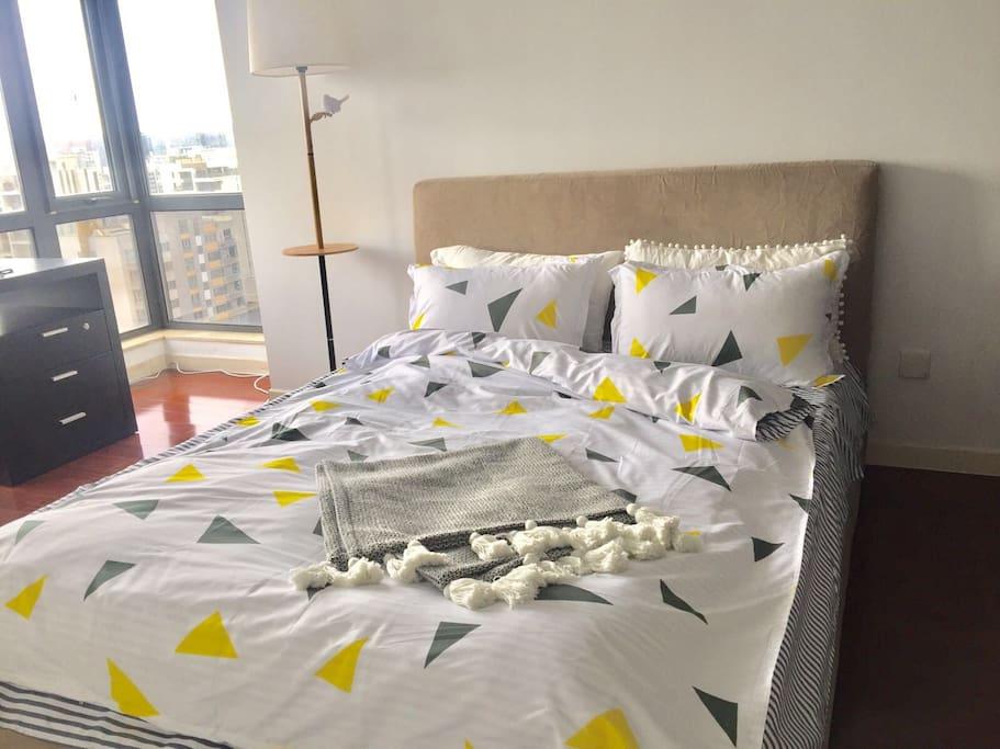 高格调景观双人房 nice bedroom