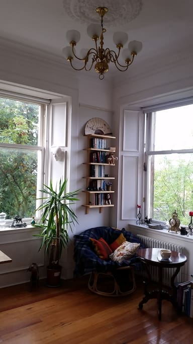 Open-plan living room.
