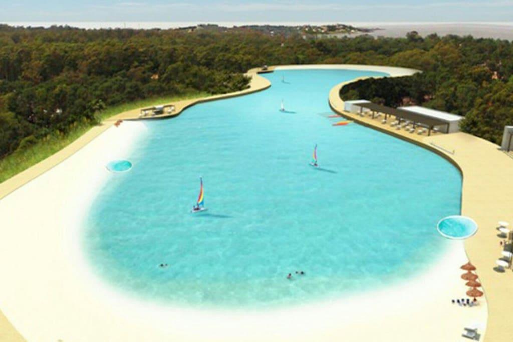 Crystal Beach es el nuevo Lago Artificial con Playas de arenas blancas y actividades deportivas.