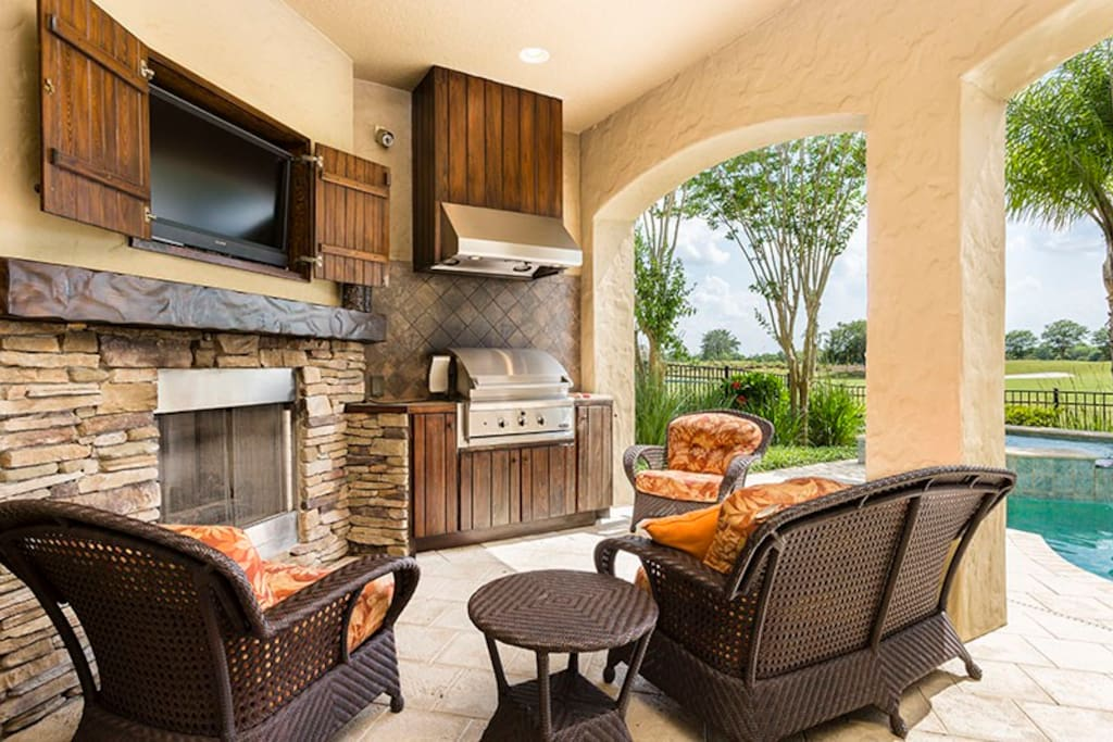 The outdoor area is your own private oasis whilst vacationing