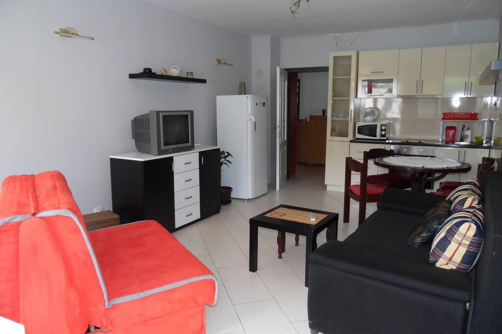 гостиная, два раскладных дивана