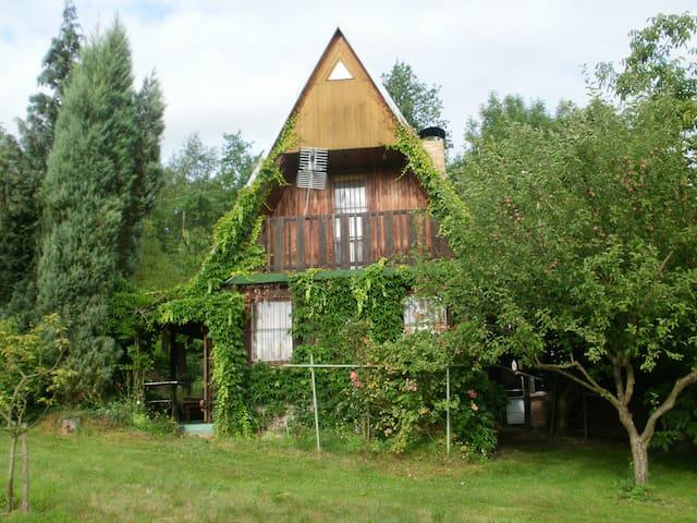 odpočinek u lesa na  chate