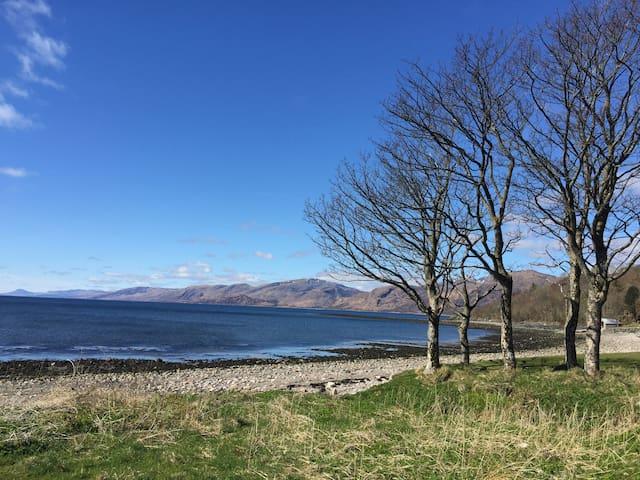 View from Ardrhu bay down Loch Linnhe