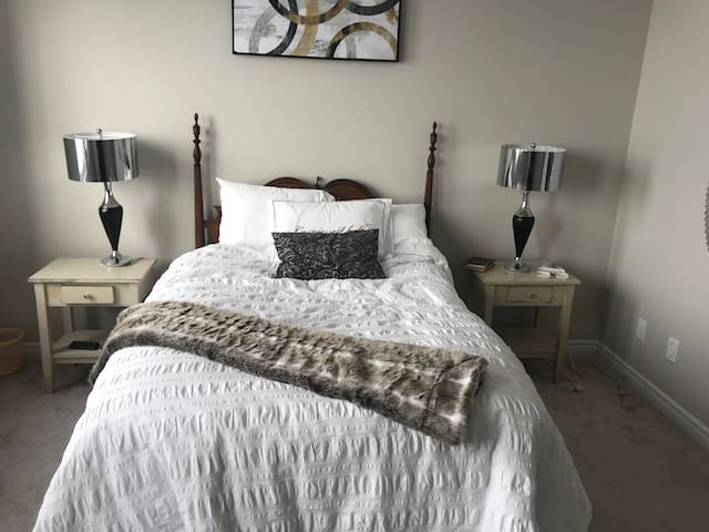 Big bedroom with own private bathroom, new home