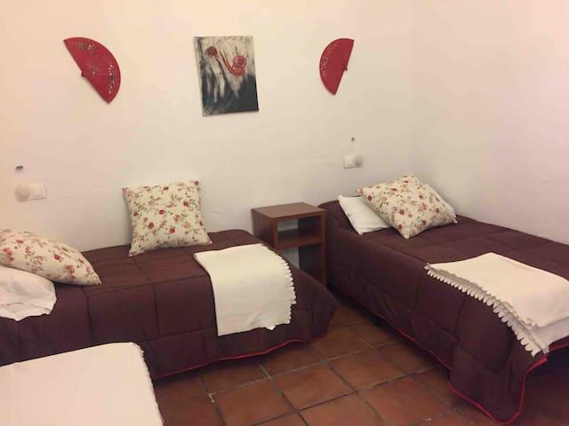 Segundo dormitorio acondicionado y luminoso gran ventanal exterior y camas individuales de 90 cm.