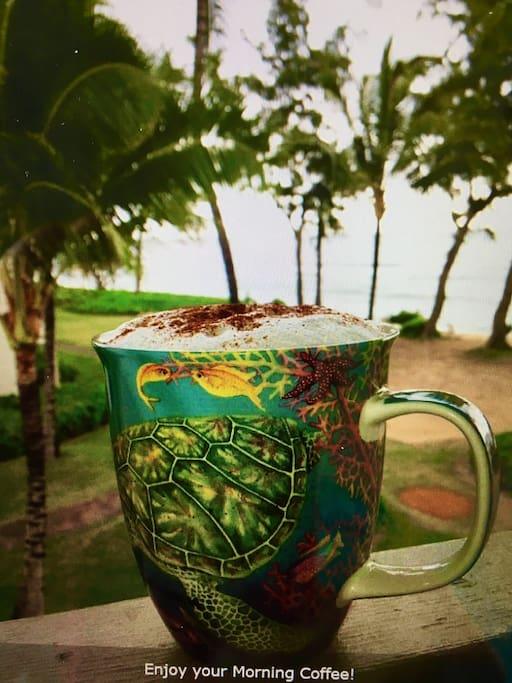 Morning Coffee on the Lanai while enjoying the sunrise