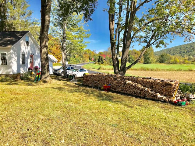 Located in beautiful Guilford, Vermont, this spot is the perfect place for a weekend getaway.  We have plenty of yard space to play and enjoy this idyllic setting.