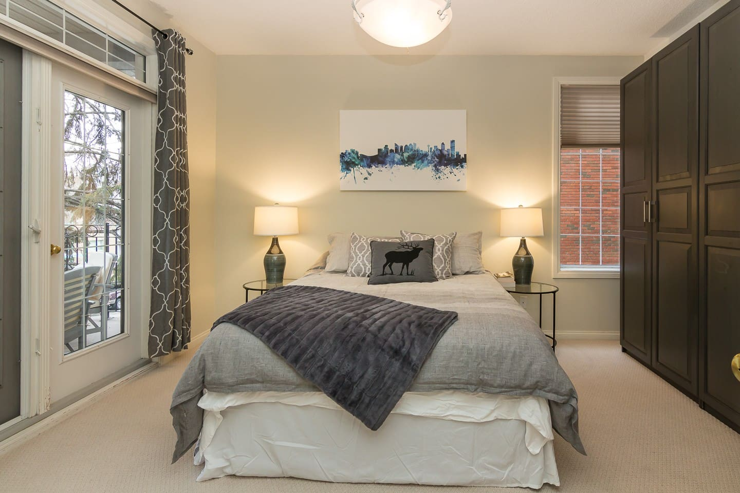 Spacious master bedroom - walk directly out to the balcony!