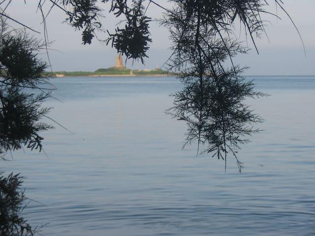 Située face à Saint Vaast et au Fort de la Hougue - Morsalines - บ้าน