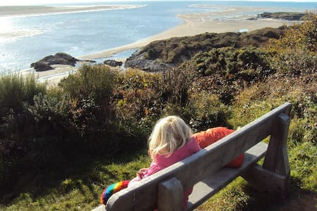 Borth y Gest- artists home by woods and beaches - Borth-y-Gest
