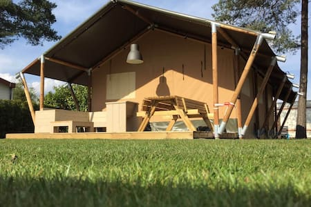 Lodgetent with private bathroom Les Genets - Salles-Curan - เต็นท์