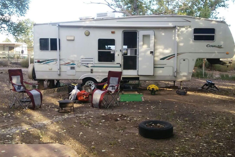27-ft Cougar camper. Lots of loving care.