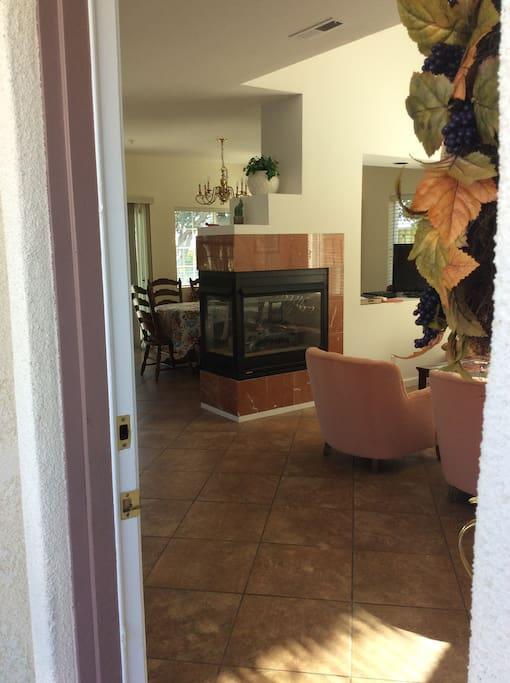 View entering thru front door.