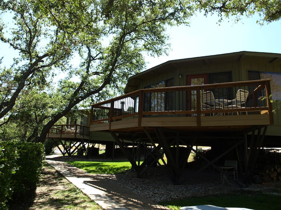 Check out this deck - the tree house on the left could be yours!