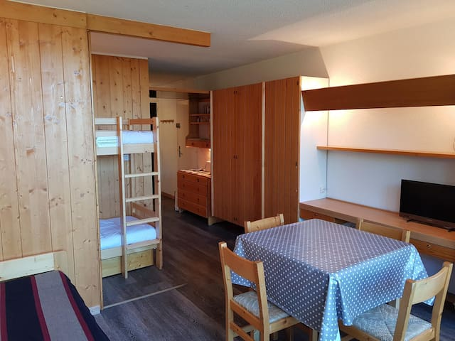 Studio for 4 persons in Arc 1600 in a residence  close to shops and slopes