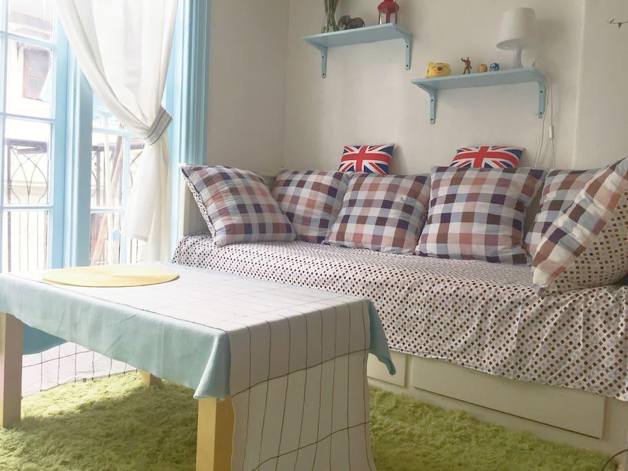 推拉式沙发床 拉开即是160x200的双人床