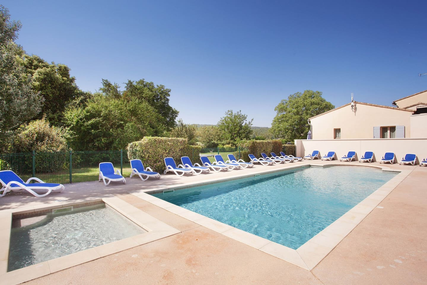 On a hot summer day, lounge by the pool and take in the beautiful sun.