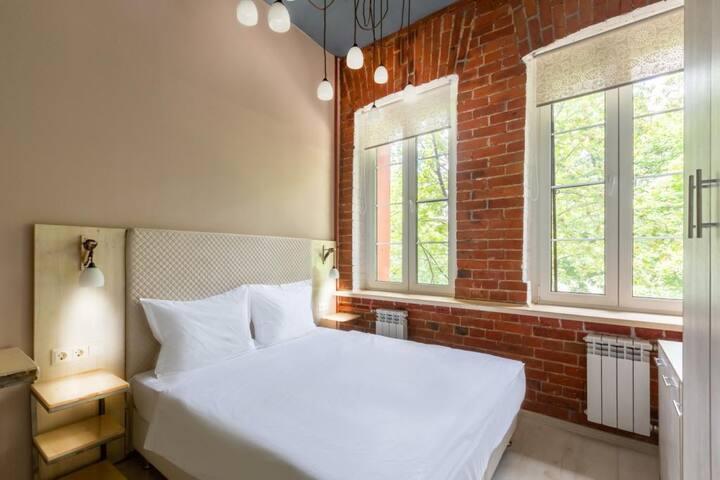 Стандартный двухместный номер с большой кроватью или двумя раздельными