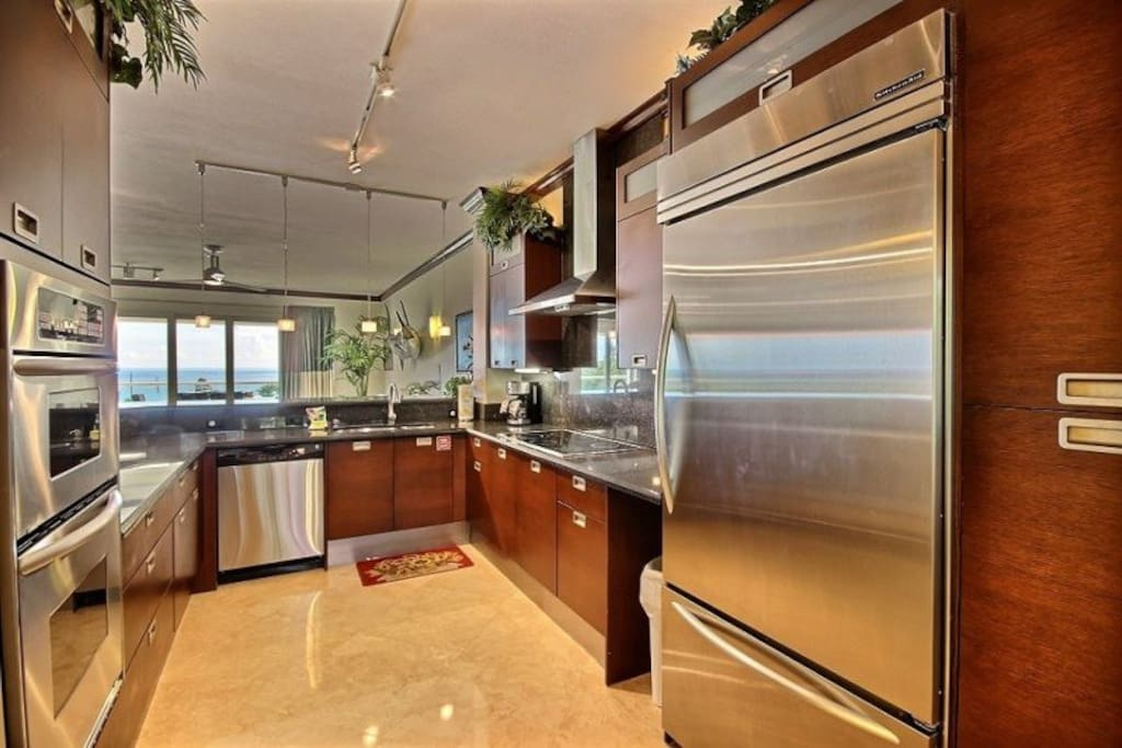 Stainless appliances and an oceanview for the chef