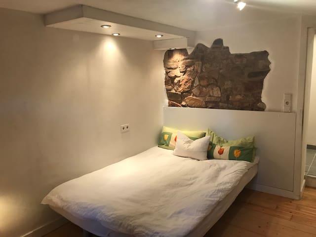 Privates Apartment mit Sauna in einem Bio-Haus