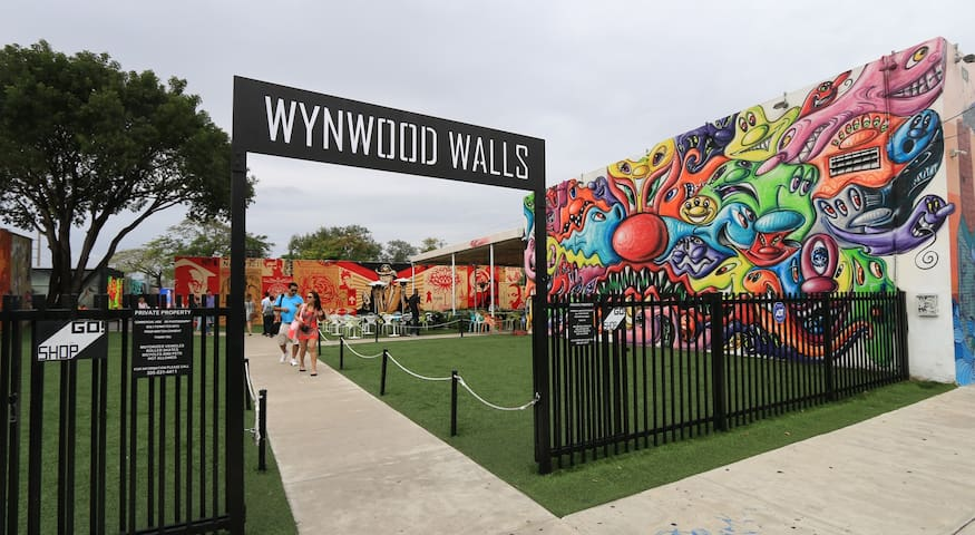 Wynwood has become a haven for aspiring painters, graffiti artists, creatives and young innovators alike. Just minutes from Downtown Miami, near Midtown and the Miami Design District, this thriving neighborhood centers around Wynwood Walls.