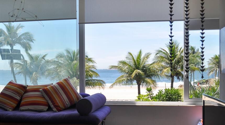 LEBLON A BEIRA MAR espaçoso 8m de vista para o mar - Rio de Janeiro - Apartment
