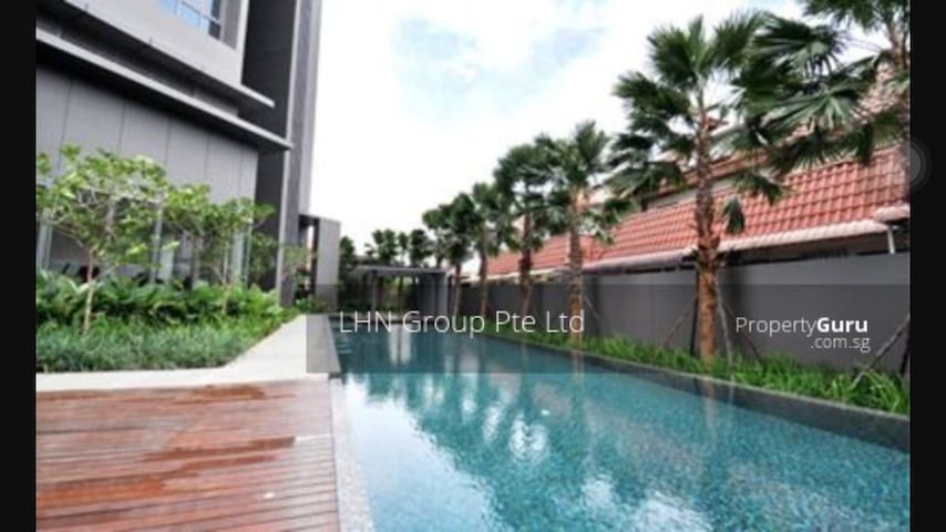 Pool and Gym and also private parking