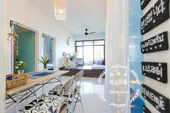Penang Batu Ferringhi Seaview Family Suite槟城海湾沙滩
