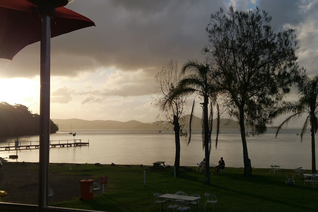 Can't resist this view in any weather!  Wallis Lake from Recky Club. 5 minutes walk west