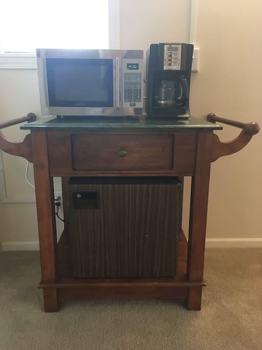 Refrigerator Microwave Coffee maker