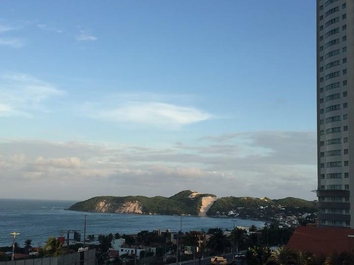 Flat em hotel em Ponta Negra com vista para o mar