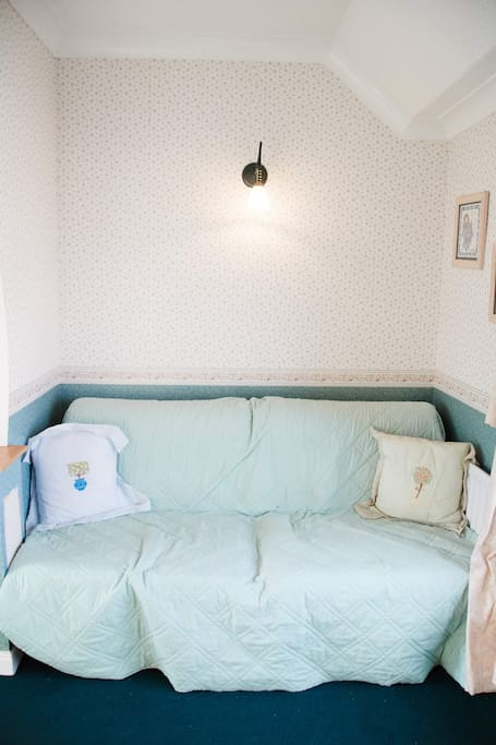 Sofa beds in double bedroom
