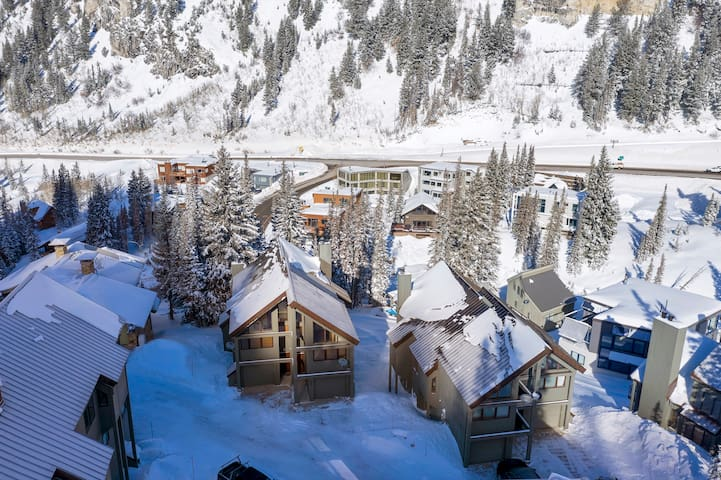 Gorgeous Alta Ski In/Ski Out Three Bedroom Plus Loft Condominium with Hot Tub and Fireplace - Powder Ridge #10B