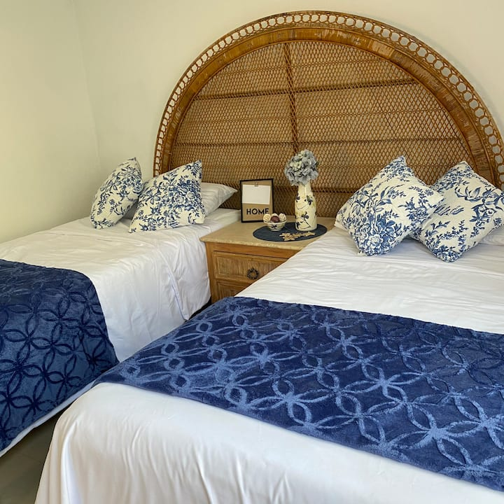 The Blue Flowers Bedroom at DICI CoLiving Housing