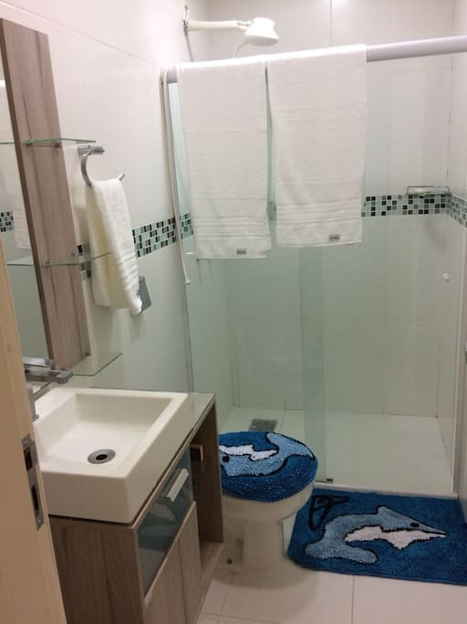 Banheiro da suíte casal