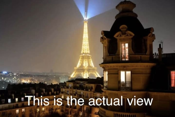 Best view on Eiffel Tower ..
