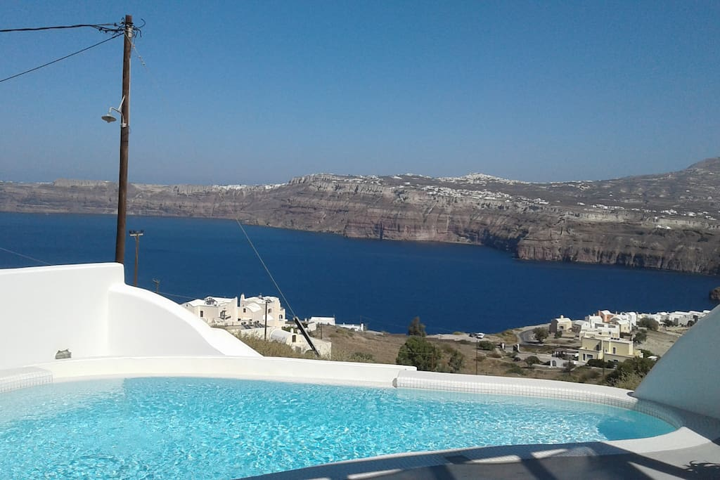 Caldera view from pool and terrace
