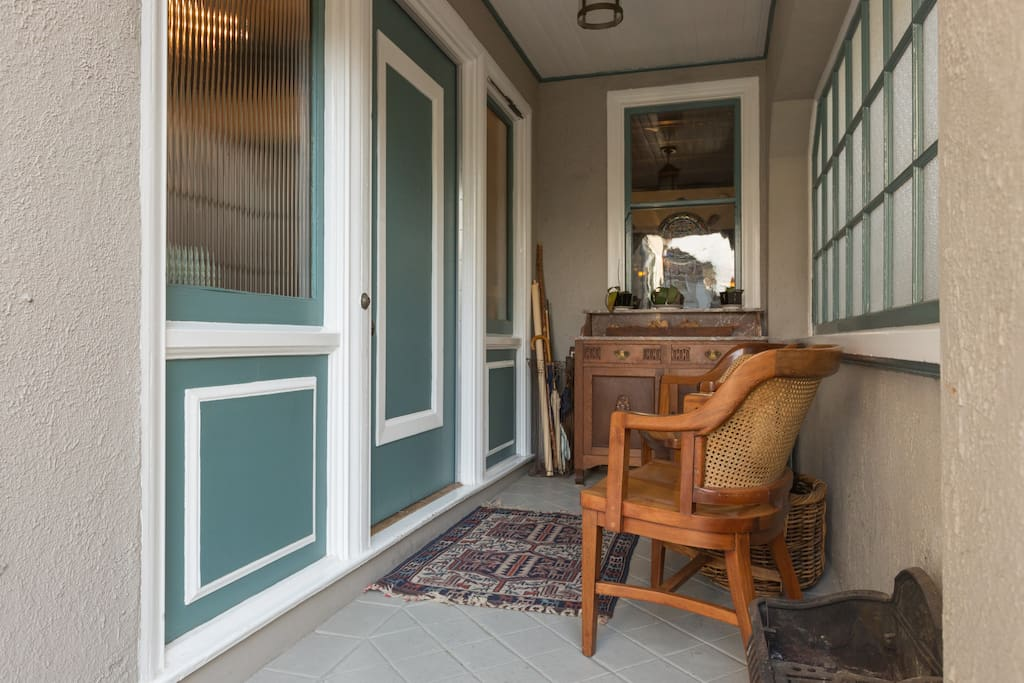 Front porch and main entry