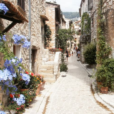 Charming townhouse in medival village near Nice - Tourrettes-sur-Loup - Дом