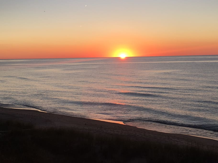 Lake Michigan Sunset View from our beach