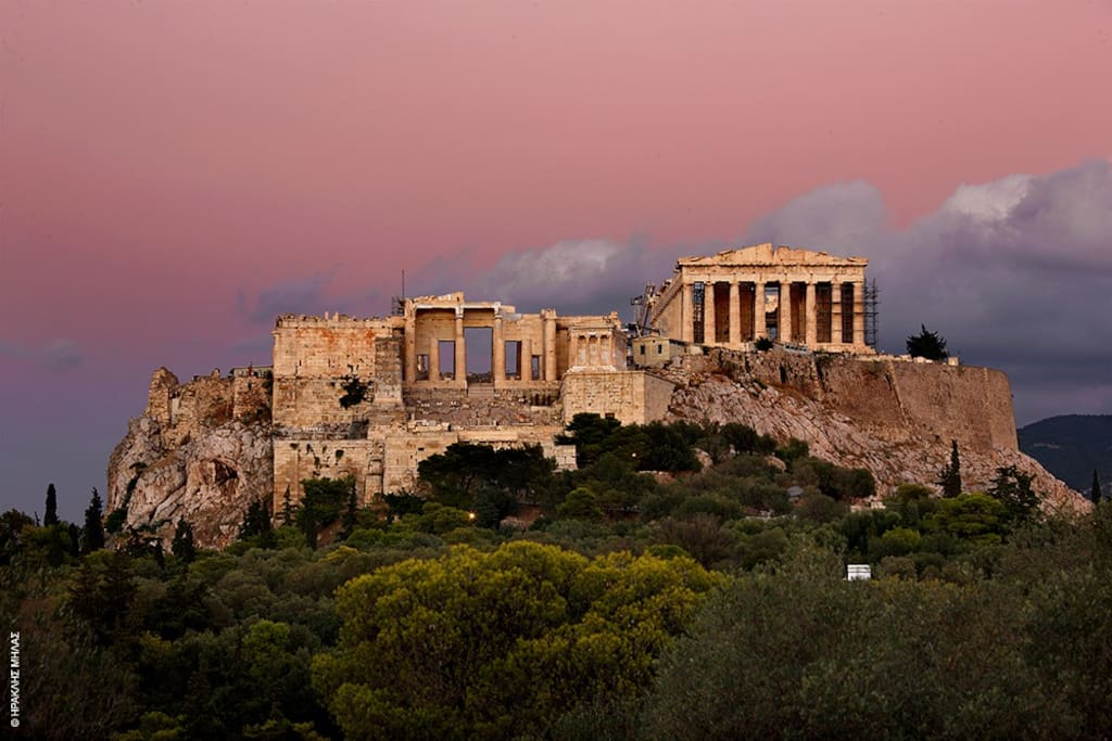 Acropolis beauty is best enjoyed from everywhere, during the sunset.