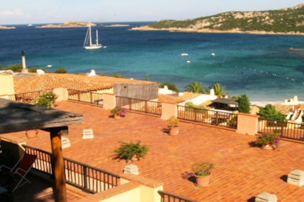 Terrazza del residence con vista. The biggest terrace in the high part of the complex (above the house)