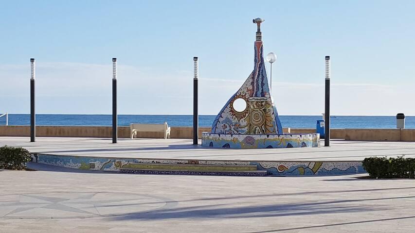 LA ROTONDA, Daimus playa ,1°linea,wifi, park,clim