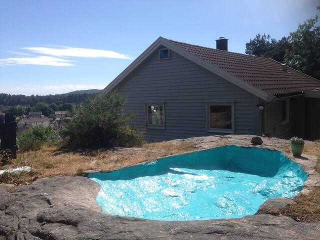 Naturlig basseng,  kan benyttes