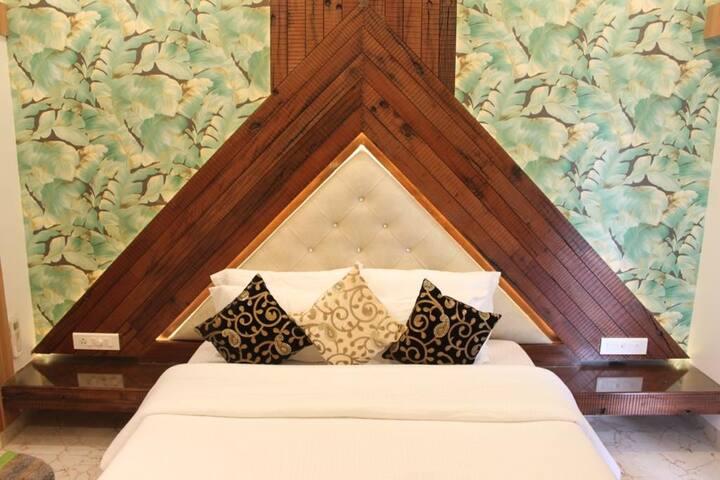 Upper bedroom , sleeper wood themed with balcony