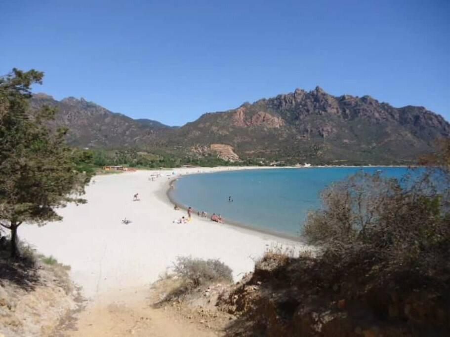 spiaggia Foximanna con sabbia bianca fine simile alla vicina Costarei