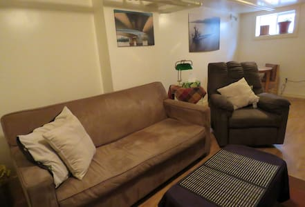 Cozy private basement suite on the Red River - Winnipeg - Wohnung