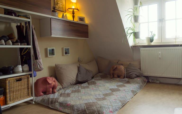 Ruhiges, gemütliches Zimmer im Dachgeschoss - Niestetal - Apartment